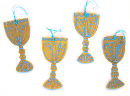 four cups passover passover craft wine goblet decorations from recycled plastic