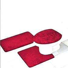 Red Bathroom Accessories Sets by Amazon Com 3 Piece Quinn Solid Bathroom Accessory Set Bath Mat