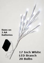 battery operated lighted branches 17 inch white led branch battery operated 20 lights buy now