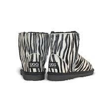 ugg zebra boots sale zebra mini ugg since 1974
