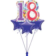 birthday balloon bouquet large 18th sparkling birthday balloon bouquet delivered all