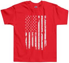 White American Flag Threadrock Kids Distressed White American Flag Toddler T Shirt Usa
