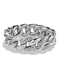 link bracelet with diamonds images David yurman belmont curb link bracelet with diamonds 18mm jpg