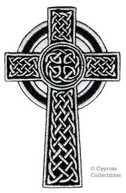 celtic cross iron on patch embroidered christian religious