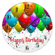 large birthday balloons happy birthday balloons wall clocks zazzle