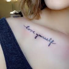 the 25 best collarbone quote tattoos ideas on pinterest