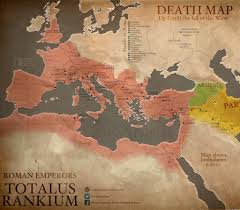 Map Of The Roman Empire Veni Vidi Gone A Death Map Of Roman Emperors Big Think