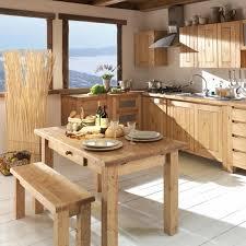 cuisine en bois naturel exemple décoration cuisine bois naturel