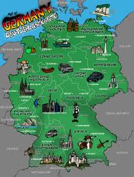 map of germany in europe large illustrated map of germany germany europe mapsland