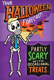 skeleton meteorologist halloween card greeting cards hallmark