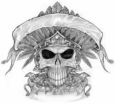 awesome skull tattoos design sketches drawing grim