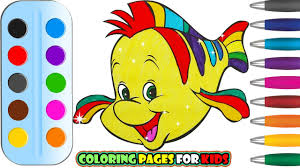 coloring pages disney fish for kids u0026 drawing for children how