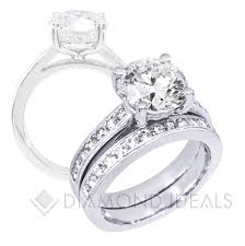 channel set engagement rings diamondideals channel set engagement ring with millgrain