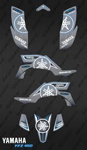 yamaha emblem kit decoration karbonik grey idgrafix yamaha yfz 450 idgrafix