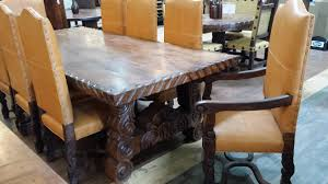 Slab Dining Room Table Rustic Leather Dining Room Chairs Home Design Ideas