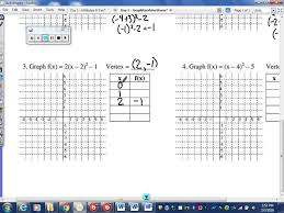 graphing parabolas in vertex form youtube