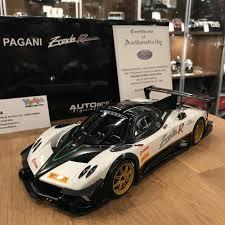 pagani zonda revolucion autoart 1 18 pagani zonda revolucion carbon fiber white 78271