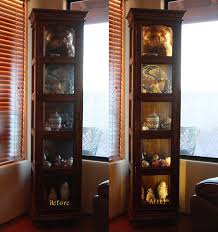 curio cabinet with light led ribbon lighting for a curio cabinet
