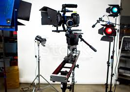 cheap studio lights for video slider with video camera and studio lights stock photos freeimages com