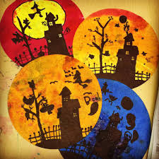 Halloween Arts Crafts by More Halloween Silhouettes Art Projects For Kids