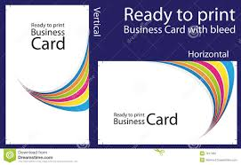 ready to print business card stock vector image 7917460