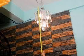 how to determine a proper height to hang a dining chandelier