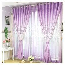 Purple Floral Curtains Best Selling Floral Printing Polyester Purple Thermal Curtains