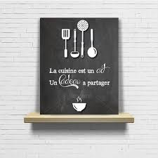 tableau citation cuisine ardoise chalkboard original par artetdeco