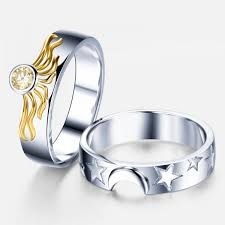 matching rings matching sun and moon 925 sterling silver engagement ring for