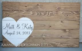 wedding guest book alternative ideas personalized wood sign wedding guest book by amandagdesigns
