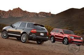 porsche cayenne turbo s 2007 inside line track tested 2007 jeep grand srt8 vs 2009
