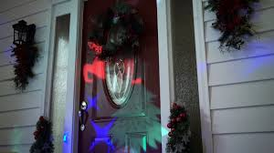 Led Christmas Light Projector by Outdoor Led Christmas Light Projector With Remote Control Youtube