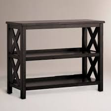 black two shelf bookcase so pretty perfect for entry way hallway or open loft area
