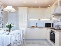 white gloss modern l shaped kitchen cabinet design come with brown