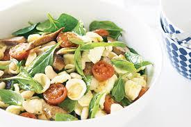 sausage and bean pasta salad