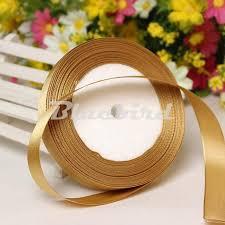 gold satin ribbon gold 3 8 10mm wide wedding craft satin ribbon sold per packet of 1
