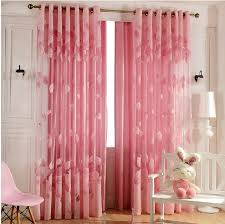 Beige And Pink Curtains Decorating 3color New Style Fashion Tulle Sheer Curtains Leaf Design