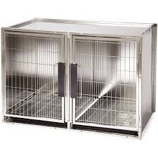 amazon com proselect stainless steel modular kennel large pet