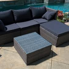 Outdoor Patio Sectional Furniture - 6pc outdoor patio patio sectional furniture pe wicker rattan sofa