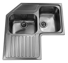 lavelli cucina angolari lavello roma ad angolo 83x83 cm inox spazzolato 2 vasche con