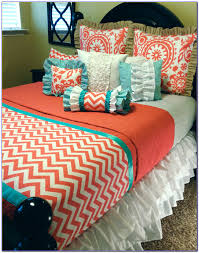 Gray And Turquoise Bedding Bedroom Best Coral Bedding Collection For Beautiful Bedding Decor