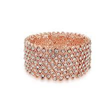 rose gold crystal bracelet images Multi row xo rose gold plated crystal stretch bracelet jpg