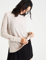 cable knit sweater womens womens cable knit sweater eagle outfitters