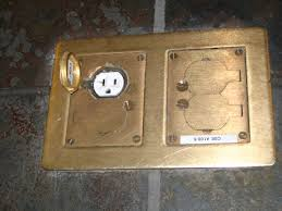 Lew Electric Pop Up Outlet by Brass Floor Outlet Cover Floor Design Ideas