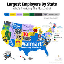 United States Map Southeast by The Largest Employers In Each State Olivet Nazarene University