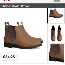 womens boots h m 17 h m boots brown chelsea boots from s closet on