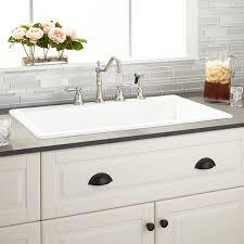 drop in farmhouse kitchen sink kitchen sinks awesome overmount farmhouse sink white drop in