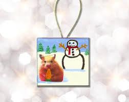 hamster ornament etsy
