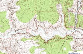 Topography Map Topographic Map Of The Escalante River Trail Grand Staircase