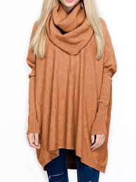 oversize cozy heap neck bat wing ribbed sweater whatsmode